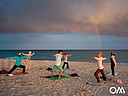 Yoga at the beach with our Yoga teacher