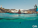 Couple with rental SUP in Morro Jable