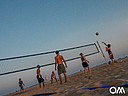 beach volleyball at beach in front of the Bungalows